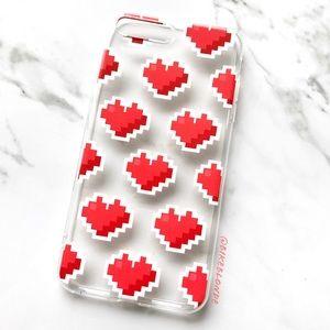 NEW iPhone 7 Plus/8 Plus Clear Heart Emoji Case